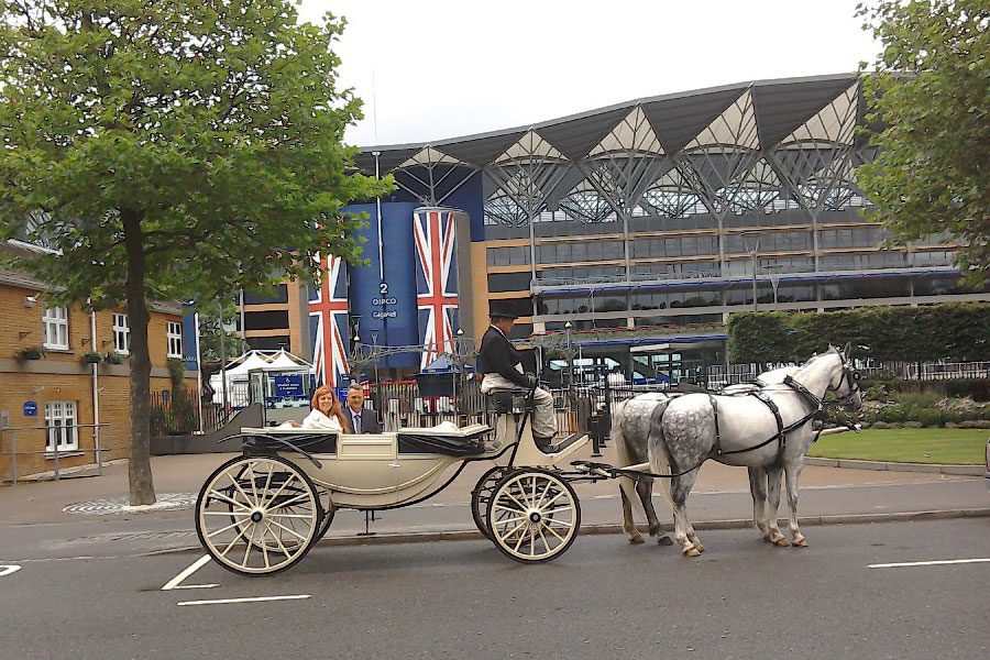 Royal Ascot via horse and carriage