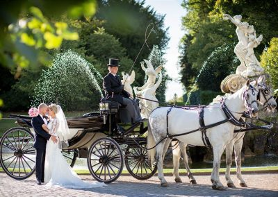 Ivory Black Cliveden wedding carriage